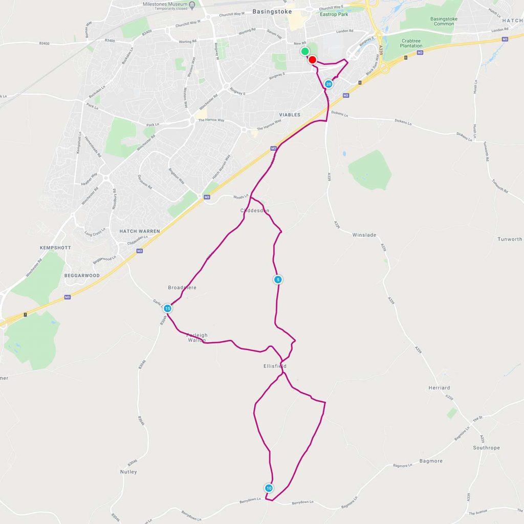 basingstoke half marathon route