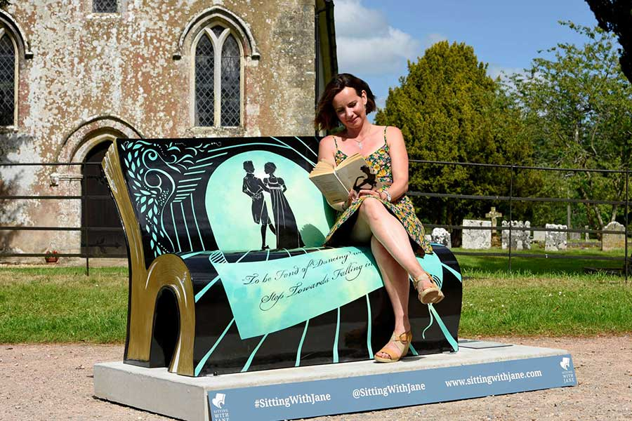 Steventon Book Bench For Sitting With Jane